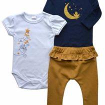 K-Baby Sada 1 x body dl. rukáv, 1 x body kr. rukáv + 1 x tepláčiky – Víla