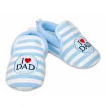 Capačky YO! I LOVE DAD modré 6-12m