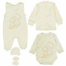 Mbaby Súpravička do pôrodnice 5D – Teddy Bear – smotanová