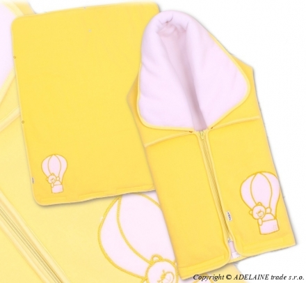 TERJAN Multifunkčná deka 3v1 medvedík žltá