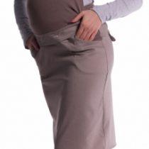 Tehotenské šaty / sukňa s trakmi – cappucino