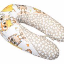 Baby Nellys Dojčiaci vankúš – relaxačná poduška Multi Cute Owls – béžový