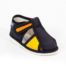 RAK Papuče čierno žlté s uzavretou špicou