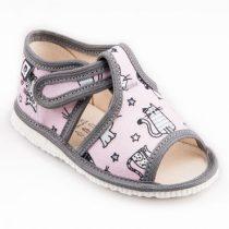 RAK Papuče ružové mačky s otvorenou špicou