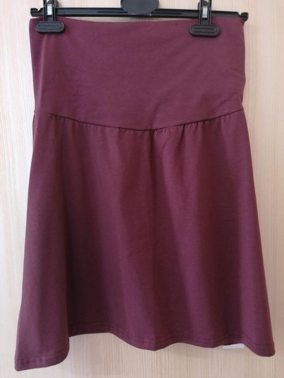Tehotenská A-čková sukňa – bordová